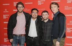 Line-up: the fil's directors - Daniel Scheinert and Daniel Kwan - pose with their film's stars