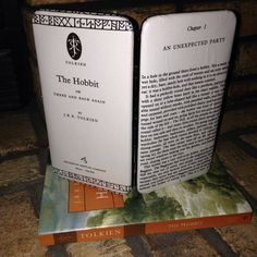 """Lord of The Rings Book Page Wallet with Chapter """"The Unexpected Party""""  and Title Page by The Nerd Boutique on Etsy, $30.00"""