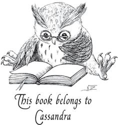 Ex libris owl this book belongs to rubber stamp. by dragonflybuzz, $22.75