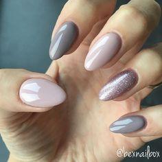 Trendy Gel Nail Arts Fashion ideas to try out gel nails now - Nagellack Bluesky Nails, Bluesky Gel Polish, Gel Polish Manicure, Gray Nail Polish, Ombre Gel Polish, Gel Manicures, Gel Nail Tips, Perfect Nails, Gorgeous Nails