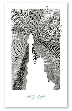 Zentangle Art-positive negative space AND line quality!