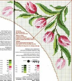This Pin was discovered by Ays Cross Stitch Borders, Cross Stitch Rose, Cross Stitch Flowers, Cross Stitching, Cross Stitch Patterns, Hardanger Embroidery, Embroidery Stitches, Hand Embroidery, Embroidery Designs