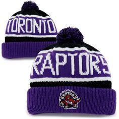 47 Brand Toronto Raptors Hardwood Classics Calgary Knit Hat - Purple Black 56b86b4ecf4