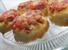 Rhubarb Sticky Buns from Food.com:   My aunt used to grow TONS of rhubarb and I wish I had it now, finding it these days isn't always easy. This recipe is very old, and you can use fresh or frozen rhubarb.