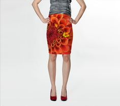 """Fitted+Skirt+""""Coral+Flower+Fitted+Skirt""""+by+Julia+Donaldson"""