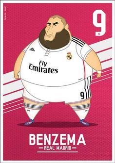 Bộ ảnh biếm họa các sao Real béo phì - 3