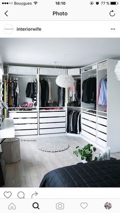Bedroom Closet Design, Master Bedroom Closet, Wardrobe Design, Closet Designs, Home Bedroom, Bedroom Decor, Wardrobe Room, Walk In Wardrobe, Ikea Closet