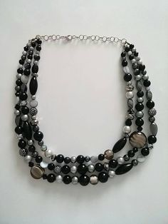 Hey, I found this really awesome Etsy listing at https://www.etsy.com/listing/236481771/smokey-statement-necklace-anthropologie