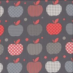 Apples for Teacher - Grey - Stenzo Poplin