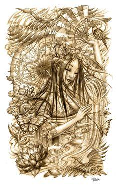 deviantART: More Like Samurai and geisha 2 by ~terryrism