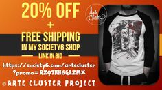 Use Promo link: https://society6.com/artecluster?promo=RZQ7HH6G2ZMX  Arte Cluster Project - Cluster Headache Awareness & Art Exhibitions -Support Awareness @society6 Arte Cluster store and get 20% Off!! Promotion expires April 9, 2017 at Midnight...