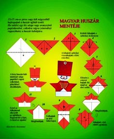 Huszár hajtogatása (Weblapon a csákó is! Diy And Crafts, Paper Crafts, Origami, Diy For Kids, Techno, Blog, Hungary, Classroom, Creative