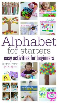 For Starters - Easy Alphabet Activities For Beginners Easy alphabet activities. Great series of activities to introduce and teach children the alphabet. Great series of activities to introduce and teach children the alphabet. Toddler Learning, Toddler Preschool, Early Learning, Toddler Activities, Teaching Kids, Kids Learning, Toddler Alphabet, Learning Spanish, Activities For 2 Year Olds Daycare