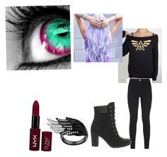 Untitled #8 by scarlero on Polyvore featuring polyvore, fashion, style, J Brand, Timberland and NYX