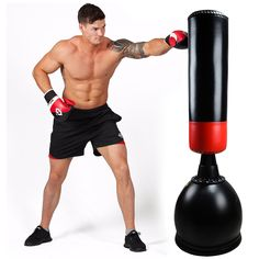 Home Free Standing Boxing Punch Bag Men Kick Martial Arts MMA Training Part B