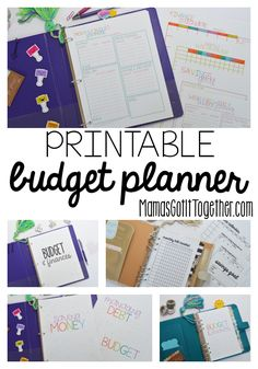 I LOVE this Budget Planner- it includes everything to get your family finances organized. Beautiful colors or black and white printables- LETTER size AND half letter size!