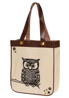 "Gotta have an owl on there! Owl Carry Your Things Bag, #ModCloth ""Best Friends (Eggy)"" by Rachel Chu #chu"