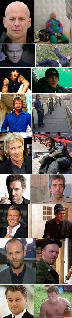 Celebrities Before and After Spending a Year in Russia