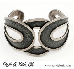 Margot Figure Eight cuff, c1955, $1150. Matching necklace available