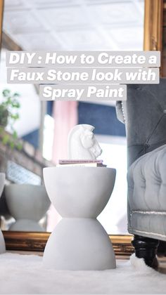 Spray Painted Vases, Diy Spray Paint, Diy Furniture Easy, Upcycled Furniture, Home Decor Furniture, Faux Stone, Diy Crafts To Sell, Home Crafts, Handmade Home Decor