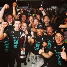 AMG Mercedes Team the #F1 2014 Constructors Championship winners