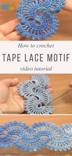 Tape Lace Crochet Pattern Tutorial If you like crochet lace patterns, than you'll love the motif I'm sharing today. The tape lace motif is very unique and you can customize it as you want. Irish Crochet Patterns, Crochet Motifs, Crochet Amigurumi Free Patterns, Doily Patterns, Crochet Stitches, Knitting Patterns, Irish Crochet Tutorial, Tatting Tutorial, Canvas Patterns