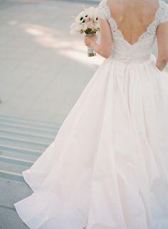 Loving this dreamy wedding ball gown! #bride #ballgown #weddinggown #bridalgown #lacegown