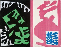Henri Matisse, Composition, Black and Red, c. 1947