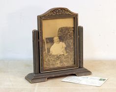 fe4712e7a192 Art Deco Swing Picture Frame   Vintage Photo Frame