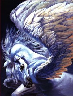 Pegasus ~ Sue Dawe (I had the pleasure of meeting Sue Dawe, at the San Diego Comic Con, one year. She was a very sweet lady!)