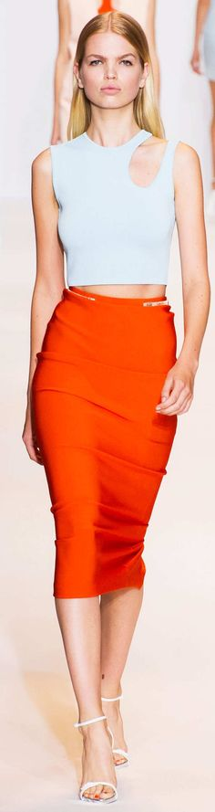 Mugler Collection Spring 2015 | The House of Beccaria~ I would choose a different top