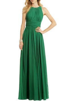 Fluorite Emerald Gala Gown by Badgley Mischka