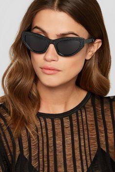 a10587a76fc5 Saint Laurent - Crystal-embellished cat-eye acetate sunglasses. Fashion ...
