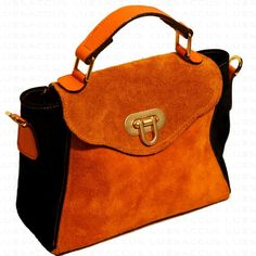 Haute Couture Handbag Black And Dark Orange
