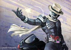 Kamen Rider Skull Kamen Rider W, Kamen Rider Series, Alone Art, Best Crossover, Video Game Anime, Anime Toys, Skull Art, Power Rangers, Memes