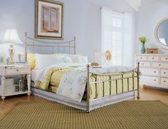 White Pillow With Yellow Quilt And White Nightstand Under Table Lamp Shades Plus Round Mirror Design