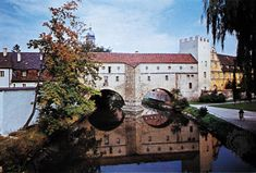 Amberg: medieval town wall and Vils River. Part of the medieval town wall spanning the Vils River at Amberg, Germany. Places Ive Been, Places To Visit, Bavarian Forest, Medieval Town, Germany, River, City, Wall, Summer