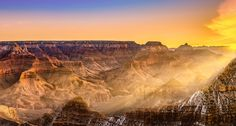 https://flic.kr/p/QXLnNn | Chasing light : In Explore 6th January 2017 | Beautiful sunrise at the Grand Canyon. One of my most favorite places to admire and photograph. This was my forth time at the Grand Canyon but never saw any beautiful cotton candy clouds to fill the sky. Only saw them in others photographs! But I promised myself that I will keep visiting with optimism that one day I will capture a stunning orange-red clouds! :)   GAU_2672-Pano-2-Edit-2-Edit
