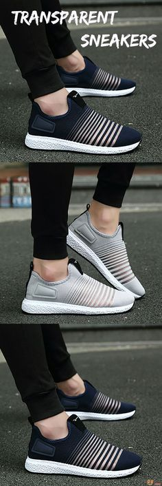 US$31.06 + Free shipping. Men Sneakers, Mesh Sneakers, Slip On Sneakers, Casual Look Men, Soft Sneakers, Athletic Shoes, Sports Shoes. Color: Black, Grey, Blue. Shop Now for the Breathable Mesh Transparent Design Shoes.