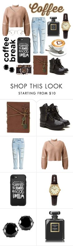 """""""Untitled #71"""" by hailey-tucker ❤ liked on Polyvore featuring H&M, WithChic, Casetify, Sekonda, West Coast Jewelry and Chanel"""