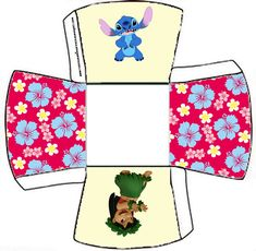 Lilo and Stich: Free Printable Party Boxes.