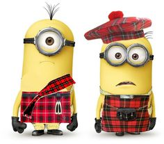 Scottish Minions. I am not sure if I should put this on my minion board or my Scottish board