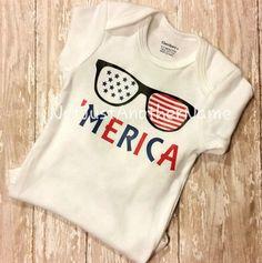 Merica Infant Bodysuit, 'Merica Youth Shirt, Baby Boy Shirt, Boy Shirt, Celebrate America Shirt