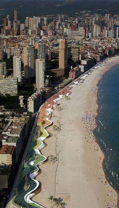 The Benidrom West Beach Promenade, Spain