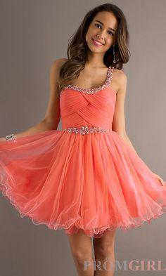 One Shoulder Short Prom Dress, Teen Cocktail Dresses- PromGirl