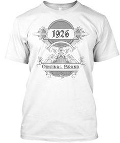 93d1d250 1926 Orginal Brand White T-Shirt Front New T Shirt Design, Shirt Designs,
