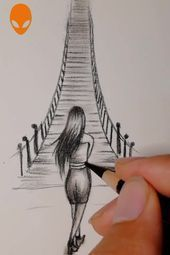 99 Insanely Smart, Easy and Cool Drawing Ideas to Pursue Now Sad Drawings, Girl Drawing Sketches, Art Drawings Beautiful, Girly Drawings, Art Drawings Sketches Simple, Pencil Art Drawings, Sad Girl Drawing, Drawing Heart, Pencil Drawing Inspiration