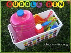 Summer Fun – Bubble Bin - Clean Mama