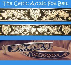 Celtic Arctic Fox Belt by stevenlink1.deviantart.com