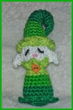 Amigurimi duende verde